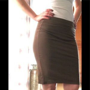 Olive green Charlotte Russe Pencil Skirt